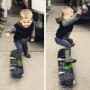 Jenelle Evans Son on Skateboard