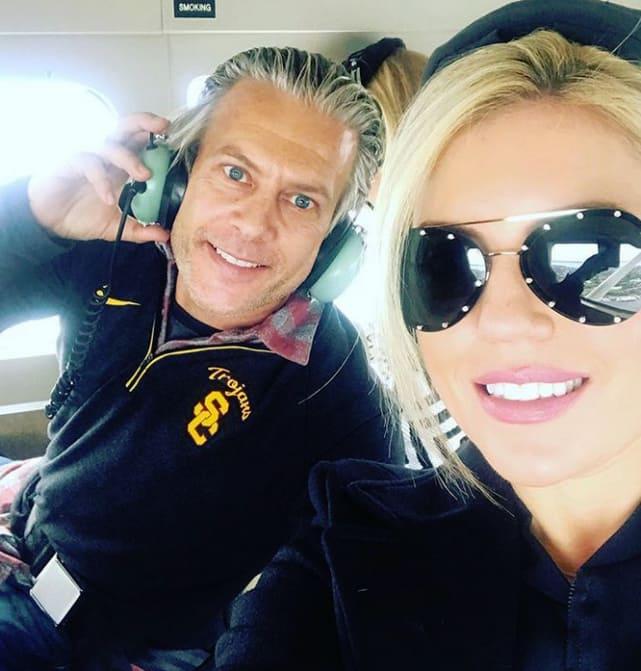 Lesley cook and david beador on a plane