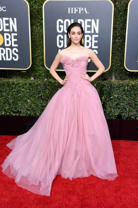 Emmy rossum at the globes