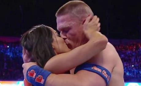 Nikki Bella Kisses John Cena