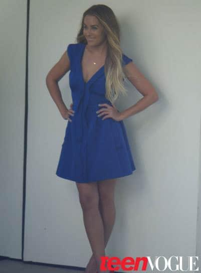 LC in a Blue Dress