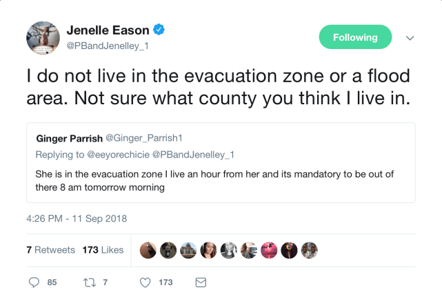 Jenelle is safe
