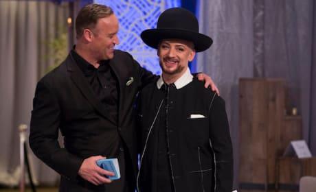 Matt & Boy George on Celebrity Apprentice Finale