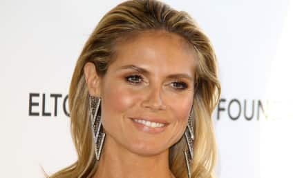 Heidi Klum Oscars Party Dress: MAJOR Cleavage Alert!