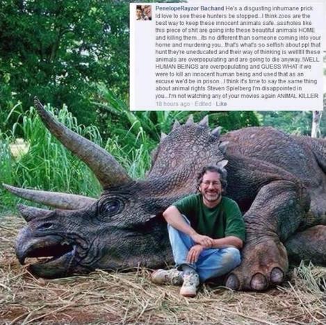 Steven Spielberg Kills Dinosaur