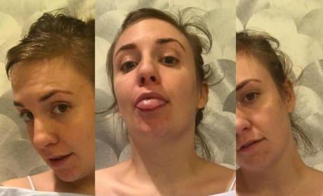 Lena Dunham Gets Silly