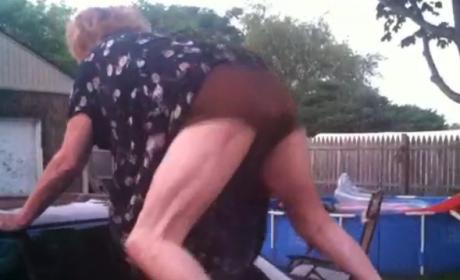 Grandma Twerking on Car