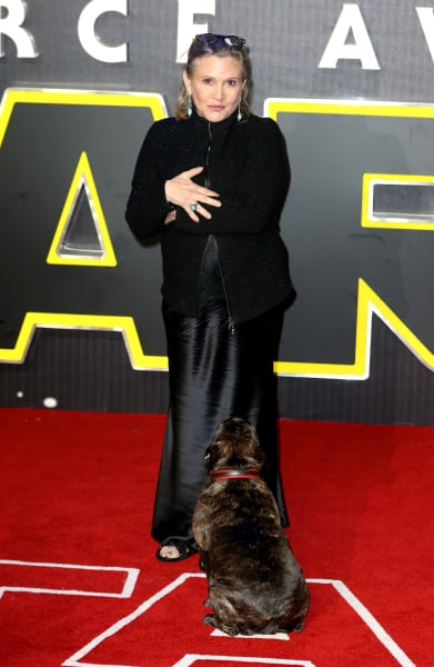 Carrie Fisher at Force Awakens Premiere