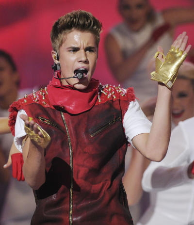 The Biebs on Stage
