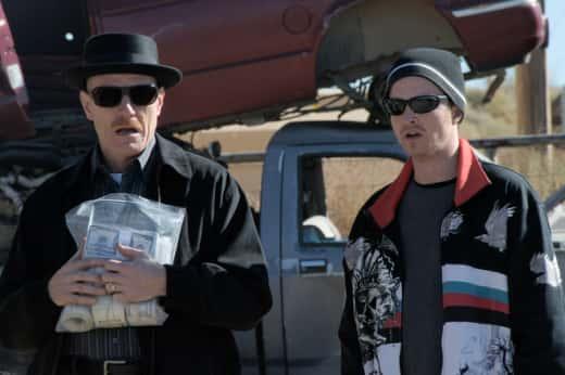 Walter White and Jesse Pinkman