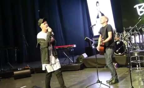 """Justin Bieber Breaks Out """"Baby"""" in Berlin"""