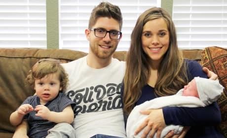 Jessa Duggar and Ben Seewald Family Photo