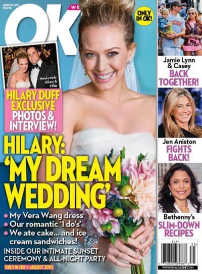 Hilary Duff Wedding Photo
