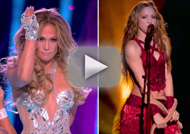 Shakira and jennifer lopez bring all the heat to super bowl half