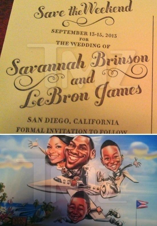 LeBron James Wedding Invite Photo
