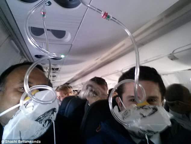 Professor Takes Mid-Flight Selfie After Oxygen Masks Deploy