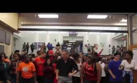 Texas High School Uptown Funk Video