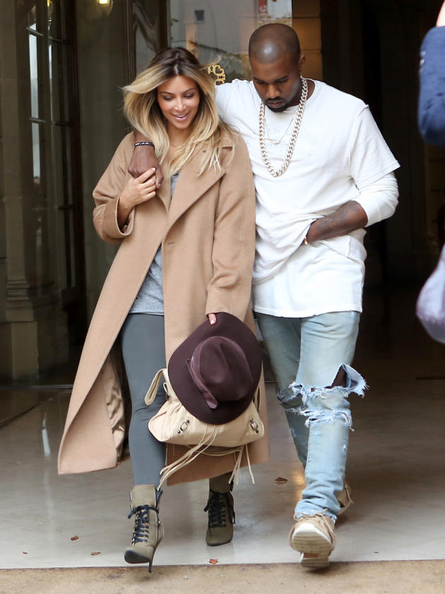 Kim Kardashian and Kanye West on Holiday