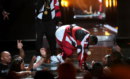 HA! Watch Diddy Fall Through Stage at 2015 BET Awards