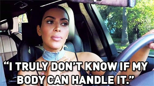 Kim Kardashian Pregnant Worries