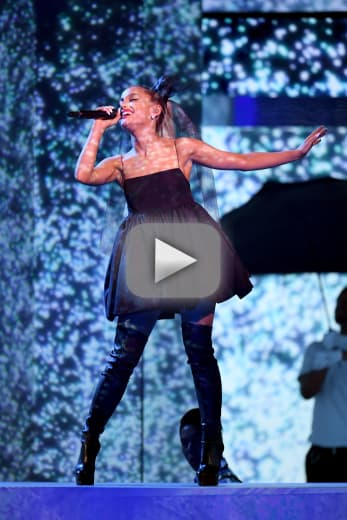Ariana grande watch her powerful performance from the bmas