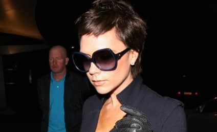 Victoria Beckham Leaves Family at Home
