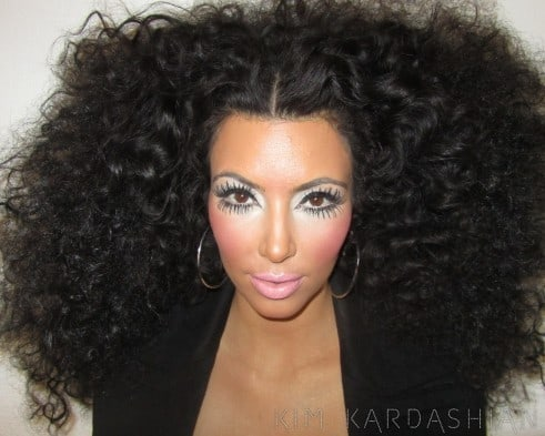 Kim Kardashian as Diana Ross