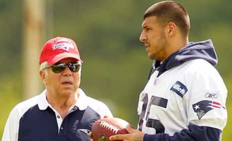 Aaron Hernandez and Robert Kraft