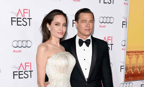 Brad Pitt and Angelina Jolie in Happier Times Photo