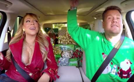 Mariah Carey and James Corden in the Car