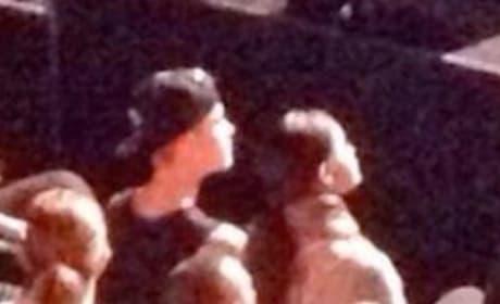 Selena Gomez and Justin Bieber in Church