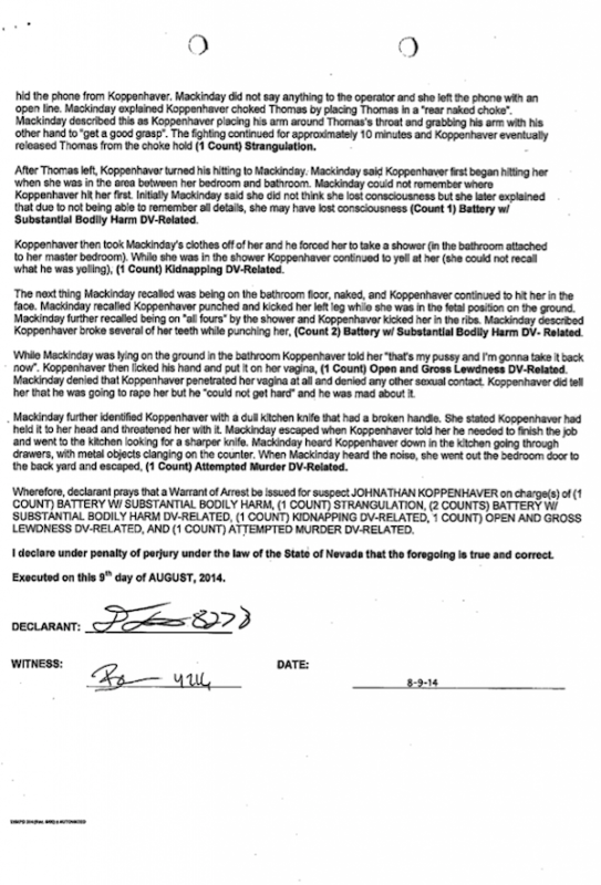 War Machine Police Report: Page 4