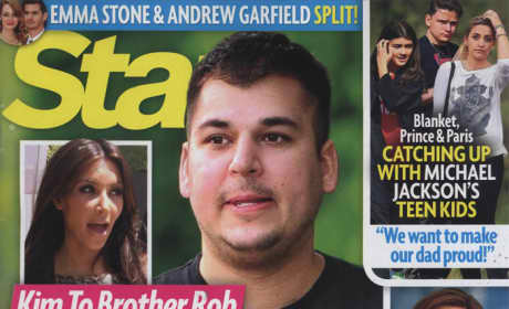 Rob and Kim Kardashian Star Magazine Cover