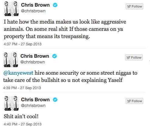 Brown Tweets to Ye
