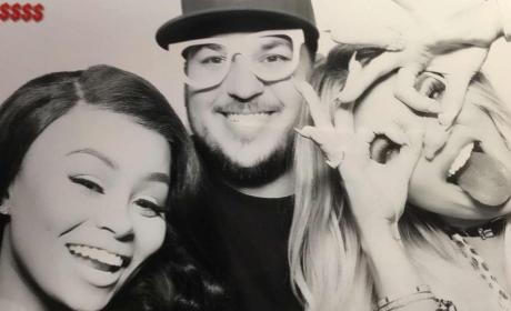 Blac Chyna, Rob Kardashian and Khloe Kardashian Celebrate Khloe's Birthday