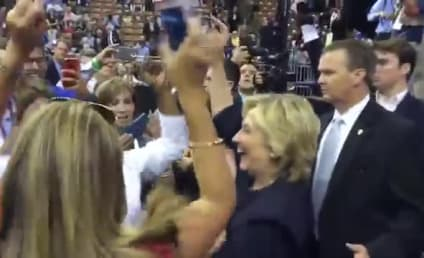 Hillary Clinton Busts Totally Spontaneous Moves to J. Lo