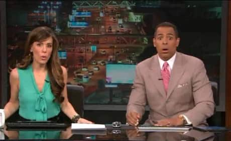 Earthquake Strikes During Live News Broadcast