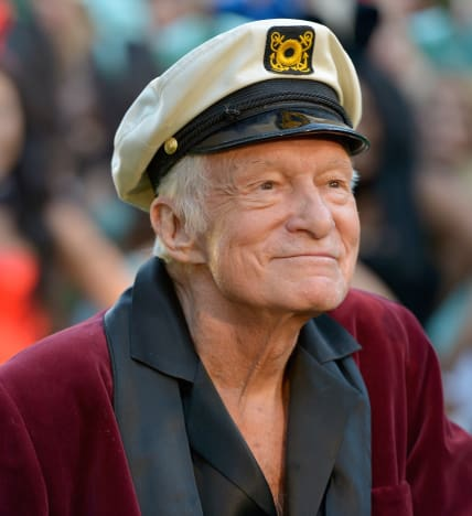 Hugh Hefner in a Hat