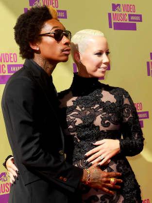 Amber Rose and Wiz Khalifa at the VMAs