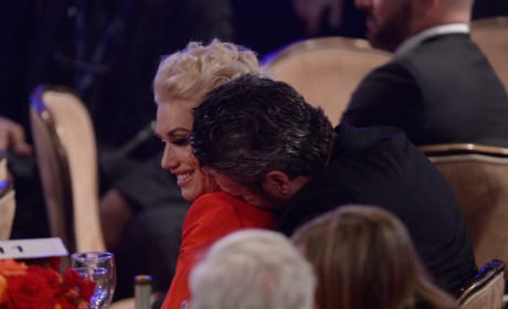 Gwen Stefani and Blake Shelton Cuddle at the 2016 Pre-GRAMMY Gala and Salute to Industry Icons