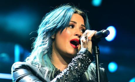 Demi Lovato at the BB&T Center
