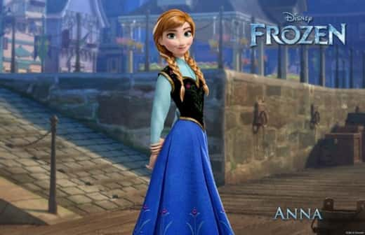 Kristen Bell as Anna in Frozen