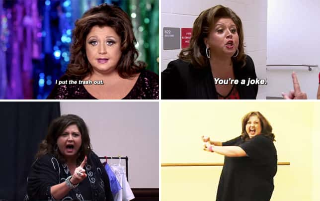 Abby lee takes out the trash