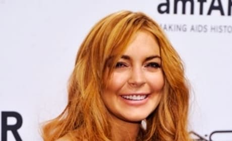 Lindsay Lohan at Fashion Week Pic