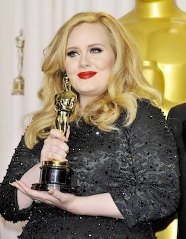 Adele with an Award