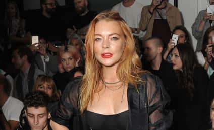 Lindsay Lohan Pops Out of Dress, Ditches Engagement Ring