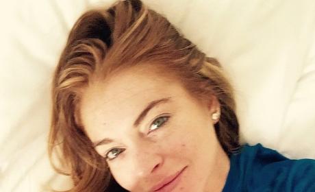 Lindsay Lohan Bed Selfie