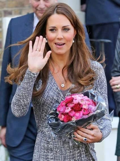 Kate Middleton With Flowers