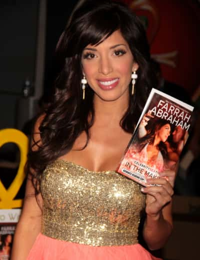 Farrah Abraham With Her Book