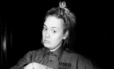 Adele Canucks Uniform Black White